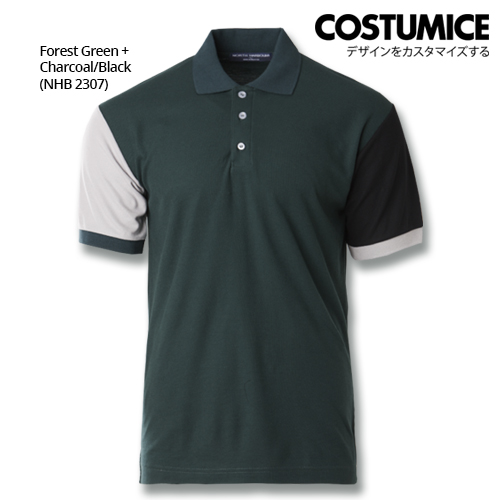 Costumice Design Dashing Polo -Forest Green+Charcoal+Black