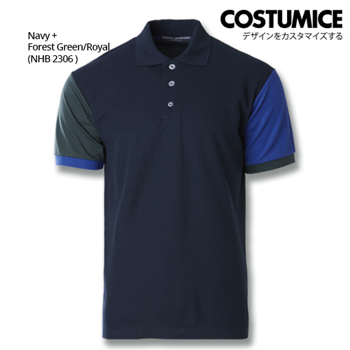 Costumice Design Dashing Polo -Navy+Forest Green+Royal