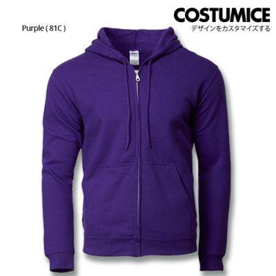 Costumice Design Heavy Blend Full Zip Hoodie Printing- Purple