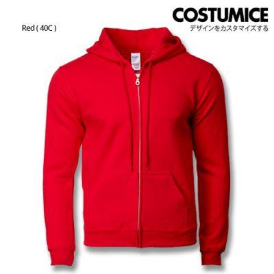 Costumice Design Heavy Blend Full Zip Hoodie Printing- Red