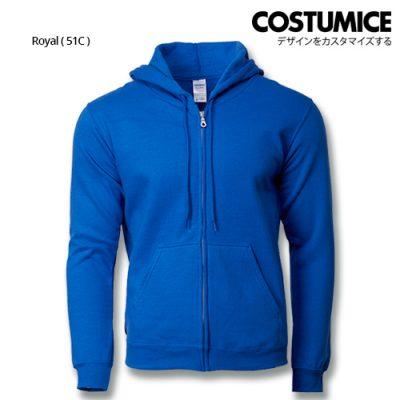 Costumice Design Heavy Blend Full Zip Hoodie Printing - Royal
