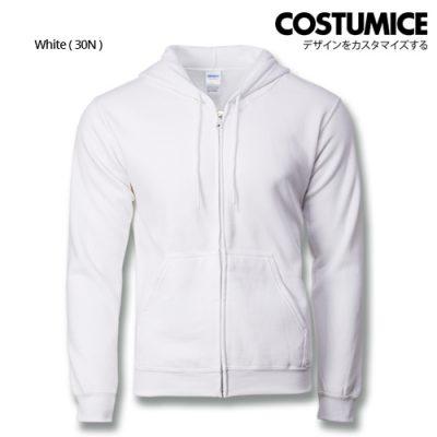 Costumice Design Heavy Blend Full Zip Hoodie Printing - White