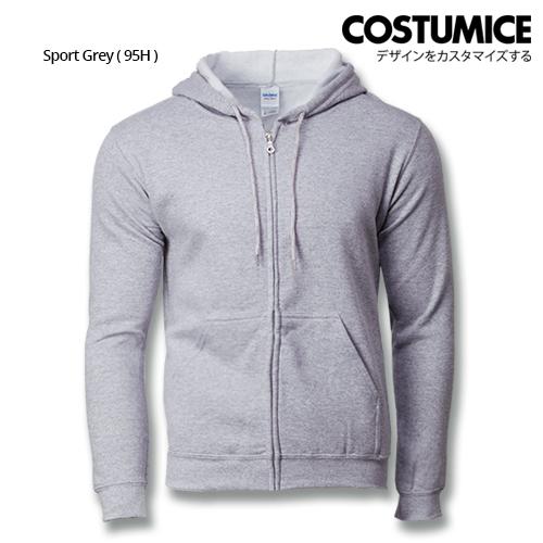 Costumice Design Heavy Blend Full Zip Hoodie Printing - Sport Grey