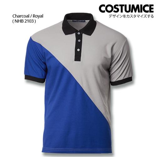 Costumice Design Signature Collection Venture Polo - Charcoal+Royal
