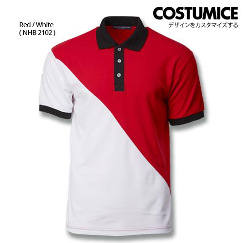 Costumice Design Signature Collection Venture Polo - Red+White