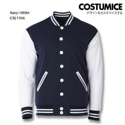 Costumice Design Varsity Jackets - Navy And White