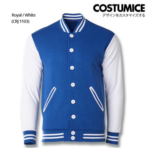 Costumice Design Varsity Jackets - Royal And White