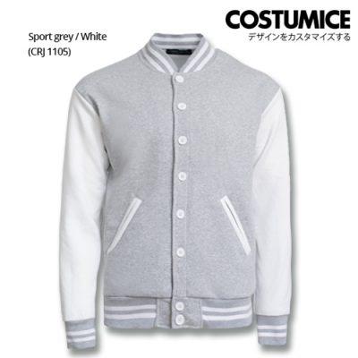 Costumice Design Varsity Jackets - Sport Grey And White