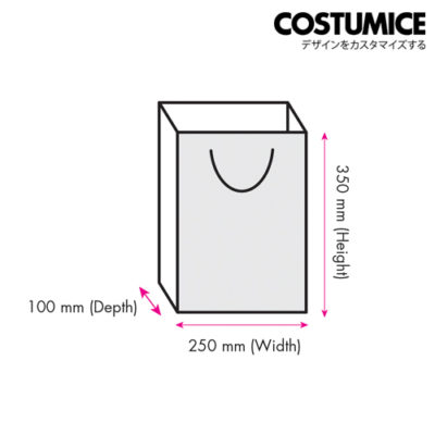 Costumice Design Large Size Paper Bag Dimension