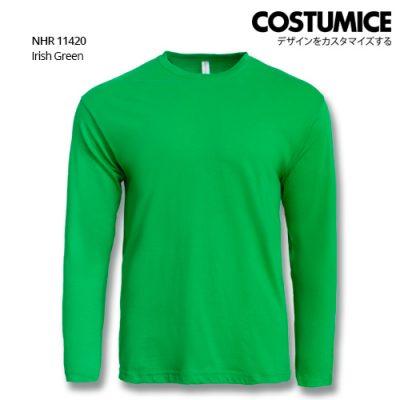Costumice Design Basic Cotton Long Sleeve T-Shirt-Irish Green