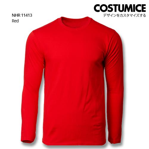 Costumice Design Basic Cotton Long Sleeve T-Shirt-Red
