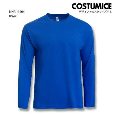 Costumice Design Basic Cotton Long Sleeve T-Shirt-Royal