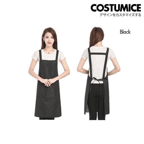 Costumice Design Customized Aprons With Logo Black