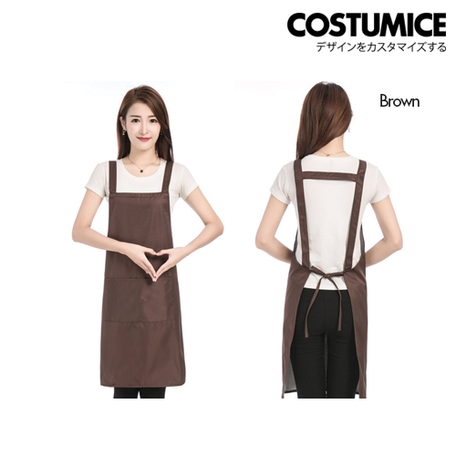 Costumice Design Oil Water Stain Proof Apron 3 Brown