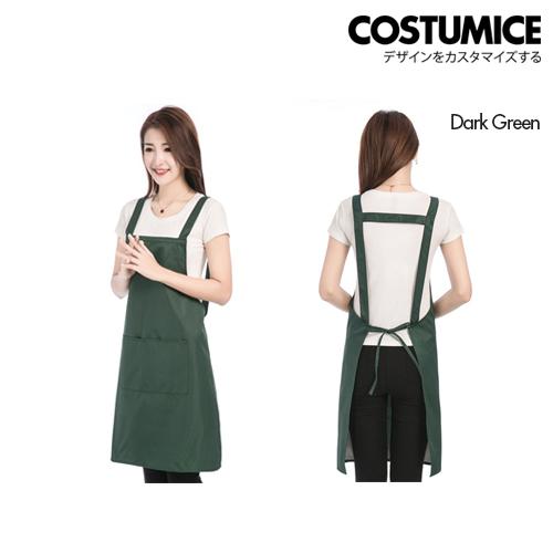 Costumice Design Oil Water Stain Proof Apron 4 Dark Green