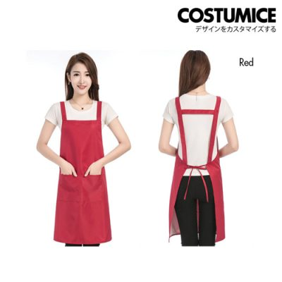 Costumice Design Oil Water Stain Proof Apron 6 Red