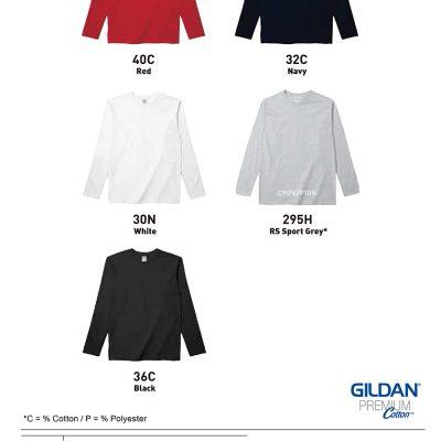 Costumice Design Premium Cotton Long Sleeve T-Shirt Color Options