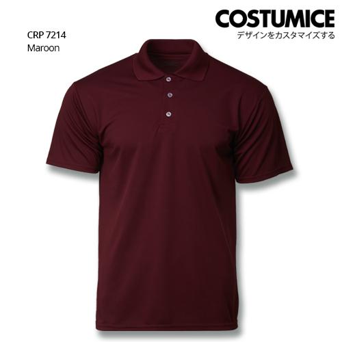 Costumice Design Quick Dry Polo Crp 7214 Maroon