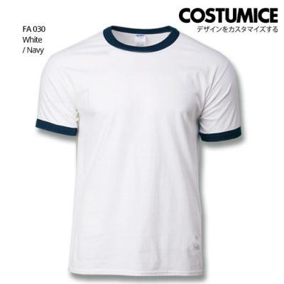 Costumice Design Ringer T-shirt FA 030 White-Navy