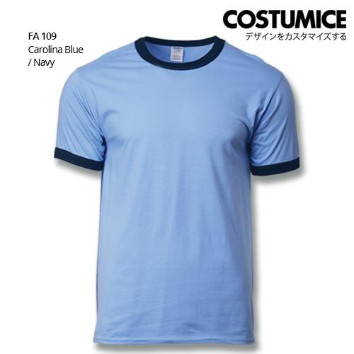 Costumice Design Ringer T-shirt FA 109 Carolina Blue-Navy