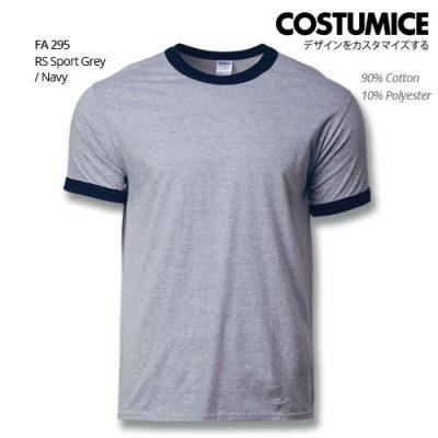 Costumice Design Ringer T-shirt FA 295 RS Sport Grey-Navy