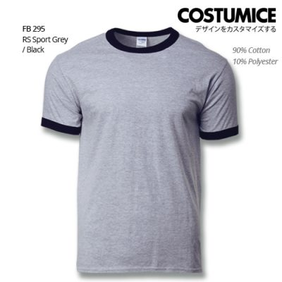 Costumice Design Ringer T-shirt FB 295 RS Sport Grey-Black