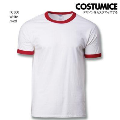 Costumice Design Ringer T-shirt FC 030 White-Red