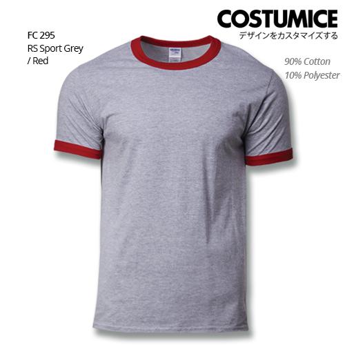 Costumice Design Ringer T-shirt FC 295 RS Sport Grey-Red