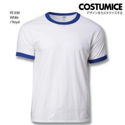 Costumice Design Ringer T-shirt FE 030 White-Royal