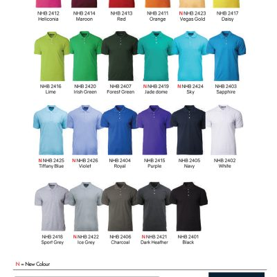 Costumice Design Soft-Touch Polo Color Options