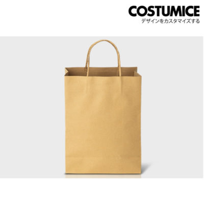 Costumice Design brown kraft large size paper bag dimension
