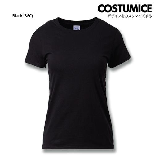 Costumice Design Ladies Premium Cotton T-Shirt-Black