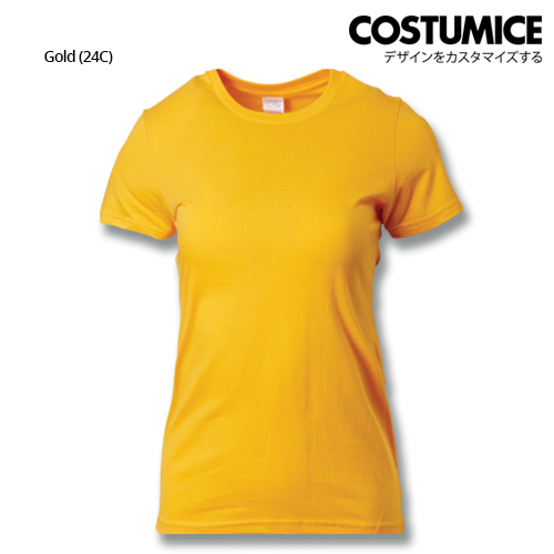 Costumice Design Ladies Premium Cotton T-Shirt-Gold