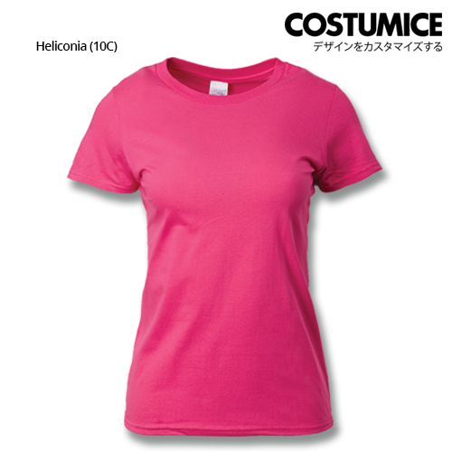 Costumice Design Ladies Premium Cotton T-Shirt-Heliconia