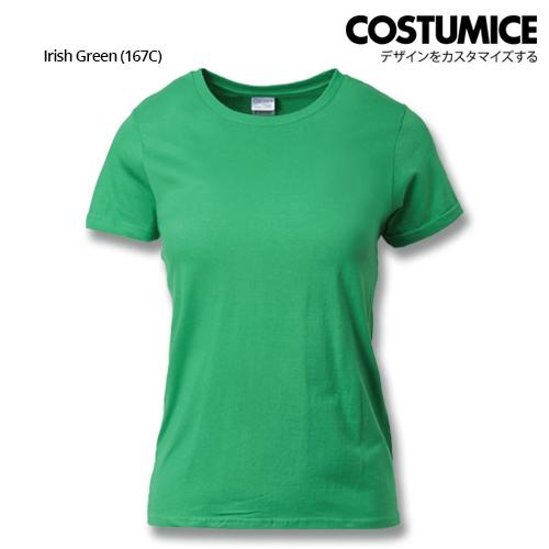 Costumice Design Ladies Premium Cotton T-Shirt-Irish-Green