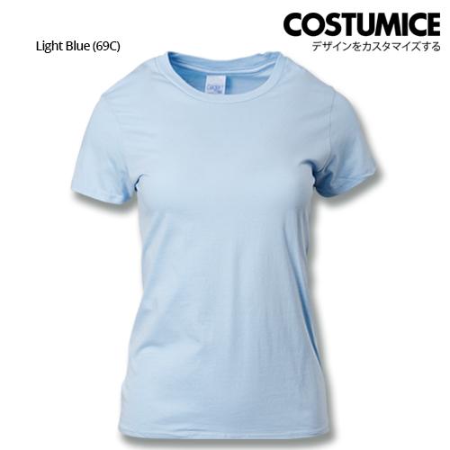 Costumice Design Ladies Premium Cotton T-Shirt-Light-Blue