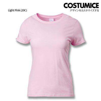 Costumice Design Ladies Premium Cotton T-Shirt-Light-Pink