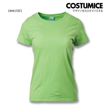 Costumice Design Ladies Premium Cotton T-Shirt-Lime