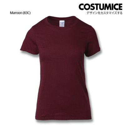 Costumice Design Ladies Premium Cotton T-Shirt-Maroon
