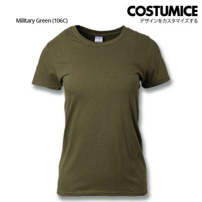 Costumice Design Ladies Premium Cotton T-Shirt-Military-Green