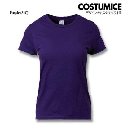 Costumice Design Ladies Premium Cotton T-Shirt-Purple