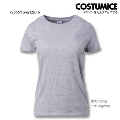 Costumice Design Ladies Premium Cotton T-Shirt-Rs-Sport-Grey