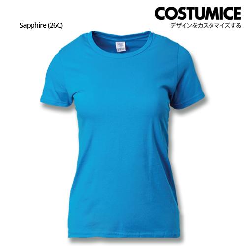 Costumice Design Ladies Premium Cotton T-Shirt-Sapphire