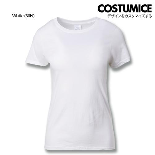 Costumice Design Ladies Premium Cotton T-Shirt-White
