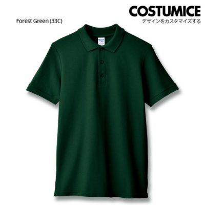 Costumice Design Premium Cotton Double Pique Polo - Forest Green
