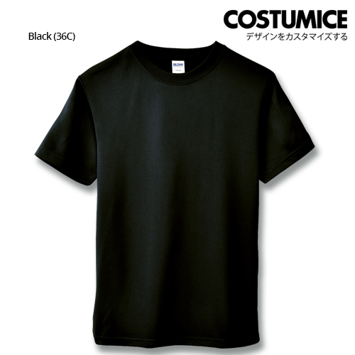 Costumice Design Quick Dry Athletic Shirts Mesh Tee-Black