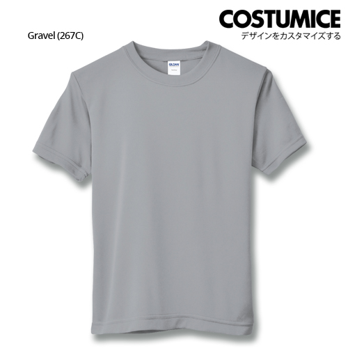 Costumice Design Quick Dry Athletic Shirts Mesh Tee-Gravel