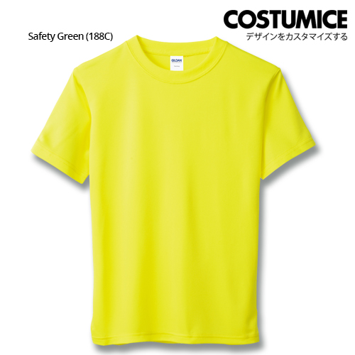 Costumice Design Quick Dry Athletic Shirts Mesh Tee-Safety Green