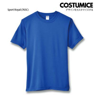 Costumice Design Quick Dry Athletic Shirts Mesh Tee-Sport Royal