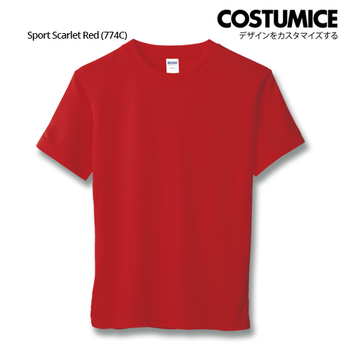 Costumice Design Quick Dry Athletic Shirts Mesh Tee-Sport Scarlet Red